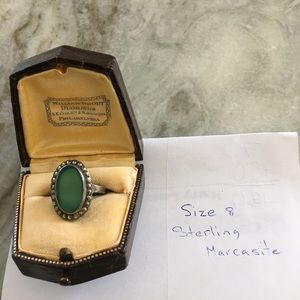 Vintage sterling silver and marcasite ring